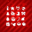 Christmas and Winter icons collection - vector silhouette — Stock Vector #16647405