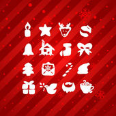 Christmas and Winter icons collection - vector silhouette — Stock Vector