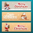 Merry Christmas, banner design background set, vector illustration — Stock Vector