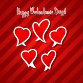 Manecilla del día de san valentín corazón discurso burbuja dibujar título — Vector de stock