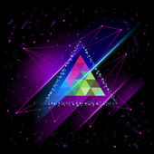 Hipster Space triangle mystic galaxy astral triangle — Stock Vector