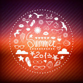 Creative graphic poster for your design. summer emblems icons — Stock Vector