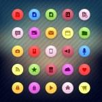 colorido internet ronda los iconos para aplicaciones web — Vector de stock  #33362655