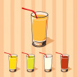 Stock Vector: Cocktail glass