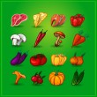 Healthy food menu vector vegetables — Imagens vectoriais em stock