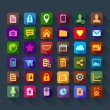 Icons for smart phone — Vector de stock