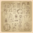 Men's clothes sketches — Stock Vector