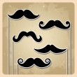 Vector set of hipster mustache — Stock Vector