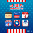Independence day 4th of July — Imagen vectorial