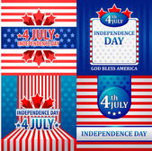 4th July American Independence Day vector design — Stock Vector