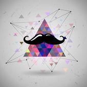 Hipster mustascher utrymme triangel — Stockvektor