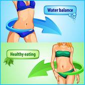 Slimming woman body — Stock Vector