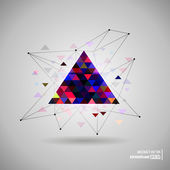 Hipster Space triangle — Stock Vector