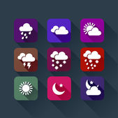 Weather app flat icon colorful icons — Stock Vector