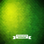 Green Abstract geometric background. — Stock Vector