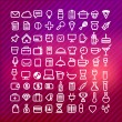 Set of web icons,Media and communication icon signs set — Imagen vectorial