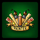 Painter vector Illustration — Stock Vector