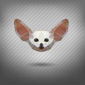 Fennec fox in the style of origami — Stok Vektör