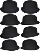 Isolated Black Hats Collection — Stock Photo