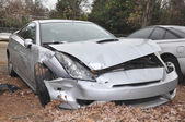 Wrecked Car — Stock Photo