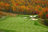 Autumn Mountain Golf Course — Stock Photo