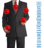 Juggling Businessman — Stock Photo