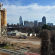 Grunge Raleigh Skyline — Photo