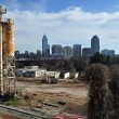 grunge skyline di raleigh — Foto Stock