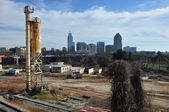 Grunge Raleigh Skyline — Stock Photo
