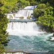 Waterfalls on Krka river in Croatia — Stock Photo