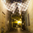 Stock Photo: Christmas decoration lights in the Old Town of Tallinn, Estonia