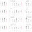 Stock Photo: Solid 2013 calendar template