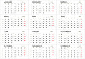 Solid 2013 calendar template — Stock Photo