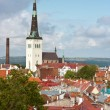 图库照片: Church St. Olaf in Tallinn, Estonia
