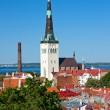 Kościół st. olaf w Tallinie, estonia — Zdjęcie stockowe