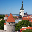 Church St. Olaf in Tallinn, Estonia - Stock Photo