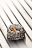 Ashtray and cigarette ends — Stock Photo