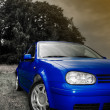 Blue car - Stock Photo