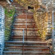 Stock Photo: Old stairway and handrail