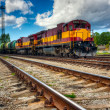 Stock Photo: Long freight train