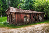 Collapsed timber house — Stock Photo