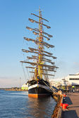 TALLINN, ESTONIA - JULY 2011 - Kruzenshtern ship — Stock Photo
