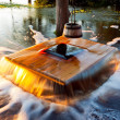Flooding well Noiakaev in Estonia - Stock Photo