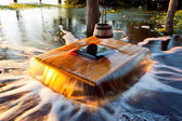 Flooding well Noiakaev in Estonia — Stock Photo