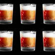 Stock Photo: Lusterless drinking glasses with year numbers