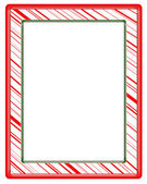 Illustration of a red striped picture frame — Stock Photo