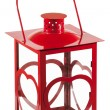 Isolated red lantern - Stock Photo