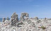 Stowed stone objects in Saaremaa, Estonia — Stock Photo