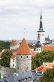 Summer view of the Old Town of Tallinn, Estonia — Stock Photo
