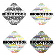 Names of microstock agenices — Stockfoto